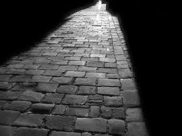 Chemin noir et blanc